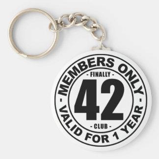 Finally 42 club keychain