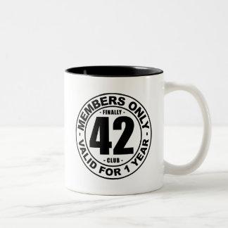 Finally 42 club Two-Tone coffee mug