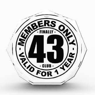 Finally 43 club award