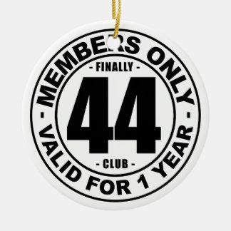 Finally 44 club ceramic ornament