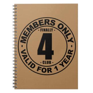 Finally 4 club notebook