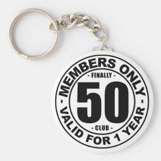 Finally 50 club keychain