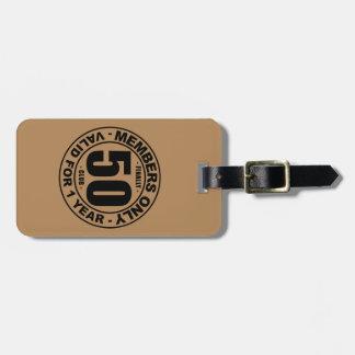 Finally 50 club luggage tag