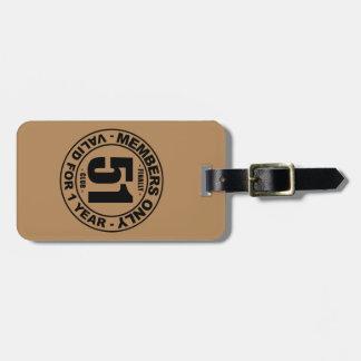Finally 51 club luggage tag
