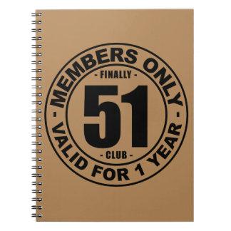 Finally 51 club notebook