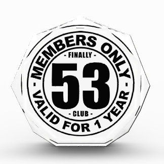 Finally 53 club award