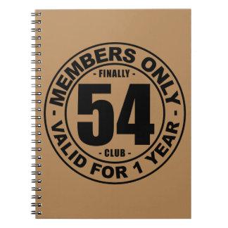 Finally 54 club notebook