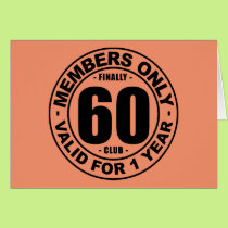 Finally 60 club card
