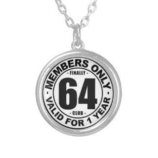 Finally 64 club round pendant necklace