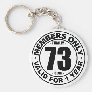 Finally 73 club keychain