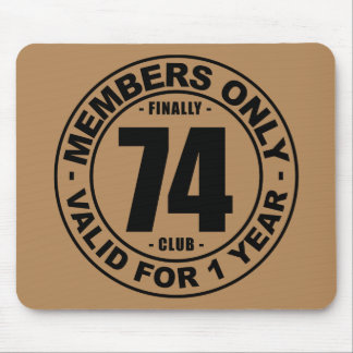 Finally 74 club mouse pad