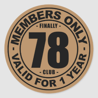 Finally 78 club classic round sticker