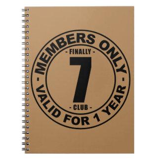 Finally 7 club notebook