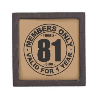 Finally 81 club jewelry box