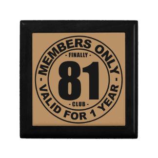 Finally 81 club keepsake box