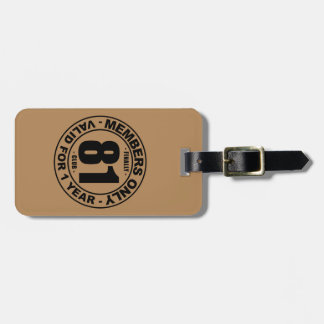 Finally 81 club luggage tag