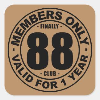 Finally 88 club square sticker