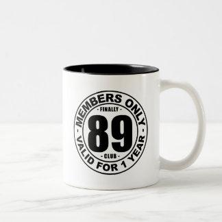 Finally 89 club Two-Tone coffee mug