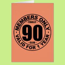 Finally 90 club card