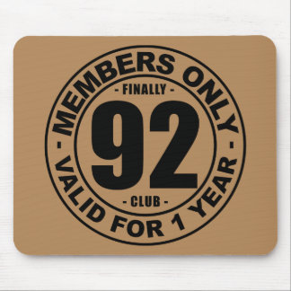 Finally 92 club mouse pad