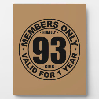 Finally 93 club plaque