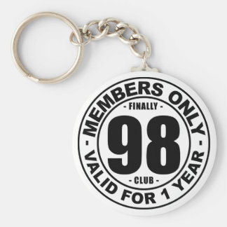 Finally 98 club basic round button keychain