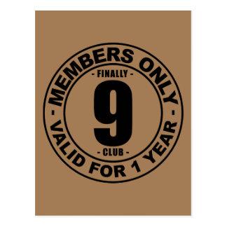 Finally 9 club postcard