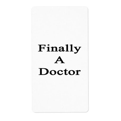 Finally A Doctor Personalized Shipping Labels