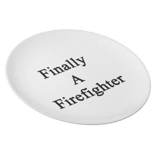 Finally A Firefighter Dinner Plate