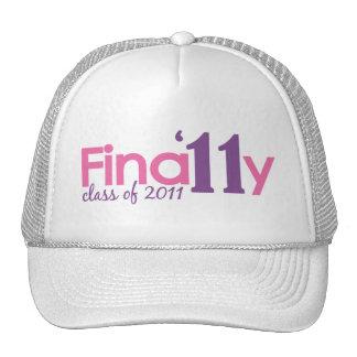 Finally Class of 2011 Pink Mesh Hats