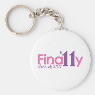 Finally Class of 2011 Pink Keychains