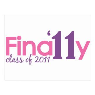 Finally Class of 2011 Pink Postcard