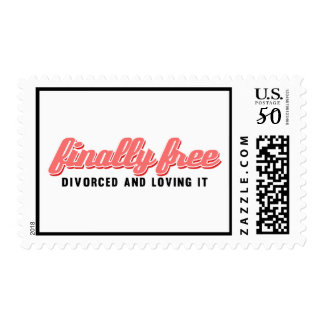 Finally Free Funny Divorce Postage