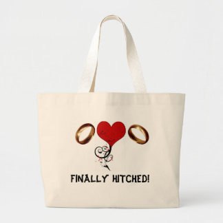FINALLY HITCHED! LARGE TOTE BAG