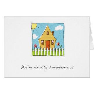 finally homeowners card