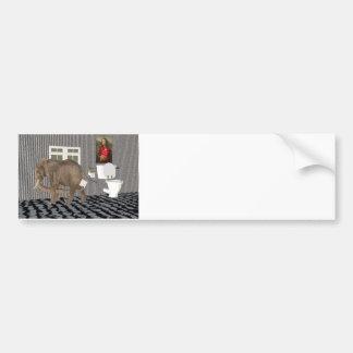 Finally Housebroken Bumper Sticker