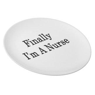 Finally I'm A Nurse Dinner Plates