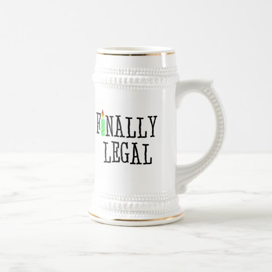 Finally Legal Beer Stein