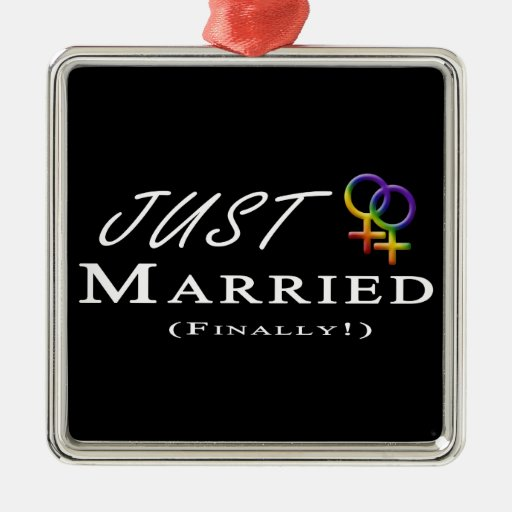 Finally Married Lesbian Pride Christmas Ornament