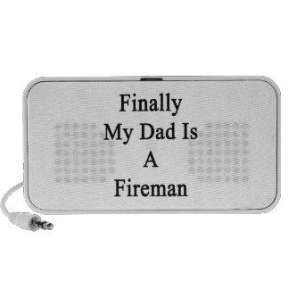 Finally My Dad Is A Fireman Mp3 Speaker