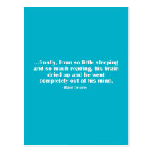 Finalmente, de tan poco que duerme… tarjeta postal