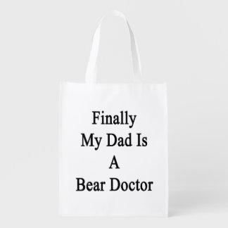 Finalmente mi papá es doctor del oso bolsas reutilizables