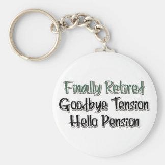 Finalmente retirado:  Adiós tensión, hola pensión Llaveros