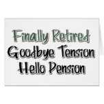 Finalmente retirado:  Adiós tensión, hola pensión Tarjetón