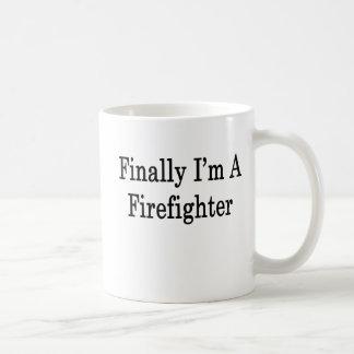 Finalmente soy bombero taza