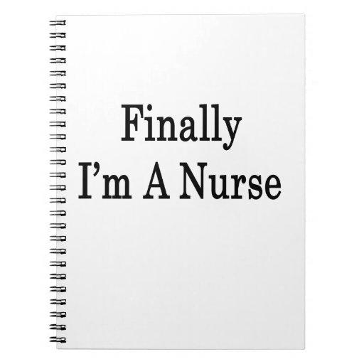 Finalmente soy enfermera libreta