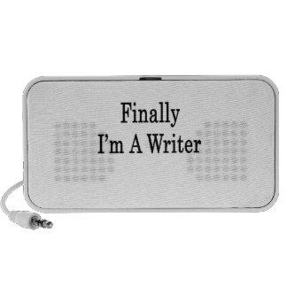 Finalmente soy escritor notebook altavoces
