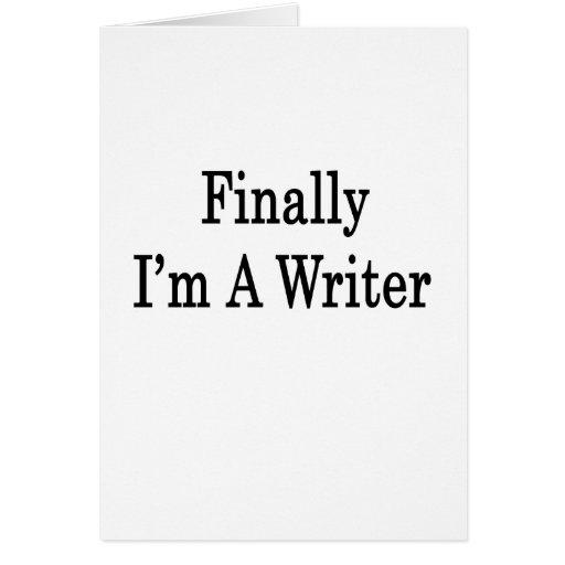 Finalmente soy escritor tarjeton