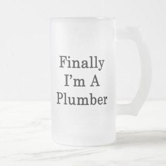 Finalmente soy fontanero taza cristal mate