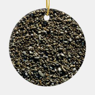 Finalmente textura de la playa de Pebbled Ornamento De Navidad